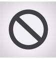 blank ban icon vector image