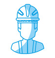 blue silhouette with half body of faceless vector image vector image