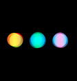 blurry lights collection bokeh elementsnebulous vector image