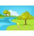cartoon nature landscape vector image