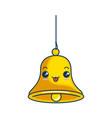 christmas bell kawaii character vector image