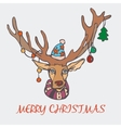Christmas reindeer and a sweater in the New Year vector image vector image