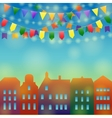 City holiday background vector image