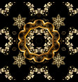 classic golden seamless pattern floral ornament vector image vector image