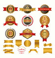 collection of luxury gold badges and logos vector image vector image