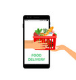 contactless grocery delivery vector image