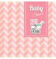 Cute baby shower card invitation with baby vector image vector image
