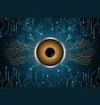 cyber security watching eye vector image vector image