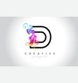d vibrant creative leter logo design with vector image vector image