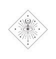 divine beauty premade logo design black crescent vector image vector image