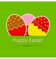 Easter eggs card with colourful eggs vector image vector image