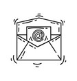 ecommerce email icon hand drawn icon set outline vector image vector image