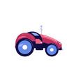 flat farmer car vector image