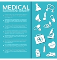 flat medical equipment set icons concept vector image vector image