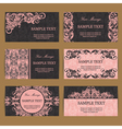 floral business cards vector image