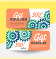 floral gift voucher vector image vector image