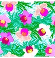 Floral tropical pattern with orchid flowers vector image vector image