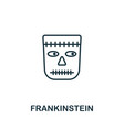 frankinstein outline icon thin line style from vector image vector image