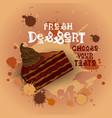 fresh dessert banner colorful cake sweet beautiful vector image vector image