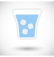 Glass whit ice vector image vector image
