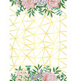 gold geometric background wiht flowers and vector image vector image