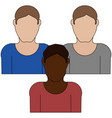 group of people icon vector image vector image