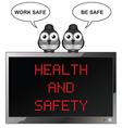 Health and Safety vector image vector image
