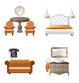 Home interior design elements icons vector image