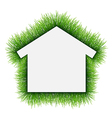 House symbol covered of grass vector image