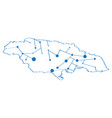 isolated map of jamaica vector image vector image