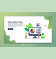 landing page template data analytics modern vector image vector image