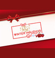 lettering greeting card for winter holidays vector image