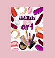 lipstick pattern beautiful red color vector image vector image