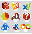 Math related symbols vector image vector image