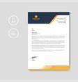 modern orange letterhead layout template vector image vector image
