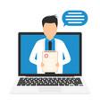 online medicine concept digital online medical vector image