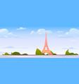 paris landscape france city skyline background vector image vector image