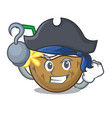 pirate cocktail coconut character cartoon vector image vector image