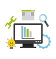 programming software vector image vector image