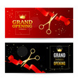 realistic detailed 3d grand opening concept banner vector image vector image