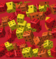 red orange yellow dice seamless pattern vector image