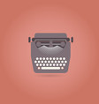 retro style typewriter flat icon vector image vector image