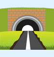 road in subway vector image