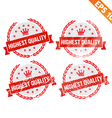 Rubber stamp highest quality - - EPS10 vector image vector image