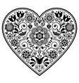 scandinavian folk heart design - love vector image