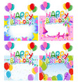 set birthday frame vector image vector image
