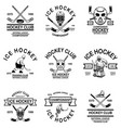 set hockey club emblems design element for vector image vector image