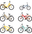 set mountain bike vector image vector image
