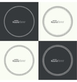 set round banners vector image