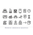 simple set real estate related icons vector image